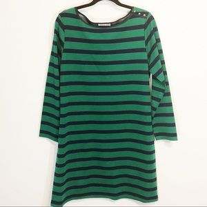 Sail to Sable navy and green striped dress size XL